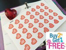 PP405 -- Pink Valentine's Day Countdown Planner Stickers 4 Erin Condren (35pcs)