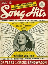 1943 Song Hits magazine Dorothy Lamour on cover Roy Rogers article inside