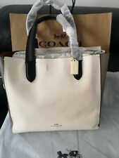 Women's Coach New York Calfskin Leather Derby Tote Hand Bag Brand New Colour...