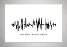 Arctic Monkeys – Fluorescent Adolescent - Sound Wave Print Poster Art