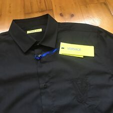 062487fb82 Versace Jeans Long Sleeve Shirt. Black. Medium. Large Logo. Brand New  Authentic
