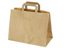50 Papiertaschen Papiertüten Papiertragetaschen Tüte braun 32x17x25 cm (70825)