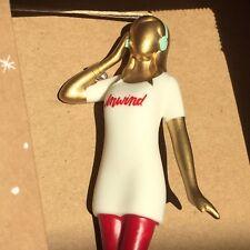 Hallmark Christmas Ornament Boxed Unwind Shirt Woman with Headphones NEW