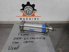 New listing Festo Dnn-63-120-Ppv-A Pneumatic Cylinder 12bar 180Psi Used With Warranty