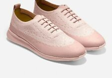COLE HAAN WOMEN'S ZEROGRAND 2 OXFORD WINGTIP STITCHLITE HOES ,MISTY ROSE Size 8