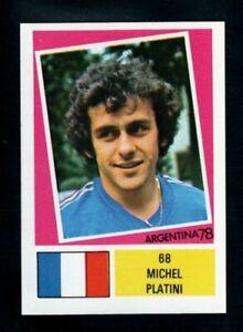 FKS WORLD CUP ARGENTINA 78  MICHEL PLATINI - FRANCE - TYPE STICKER SUPERB