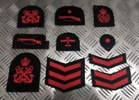 Genuine Royal Navy Embroidered Assorted Branch Qualification Rank Badges Various