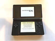 Nintendo DS Lite Original Handheld System Games Console Onyx Black + Charger