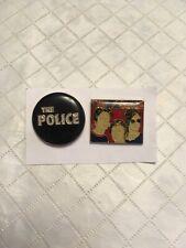 Vintage The Police Pinback Enamel Pins lot of 00004000  2