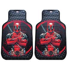 New Deadpool Marvel Comics Car Truck Front Plasticlear Vinyl Rubber Floor Mats