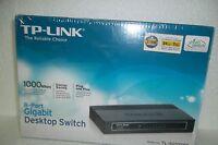 TP-Link TL-SG1008D 8-Port Gigabit Desktop Switch Full Duplex Auto MDI/MDIX NEW