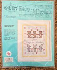 Counted Cross Stitch kit Baby Nursery Gallery Stitches Bear Bunny Custom Sampler