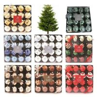Beautiful Traditional Christmas Tree Baubles - 16 In a Pack Lots Of Colour Choic