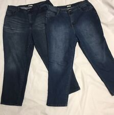 Catherines womens right fit curvy denim jeans lot 2 pieces size 18W