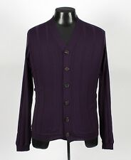 BRUNELLO CUCINELLI Wool / Cashmere Cardigan Sweater - Purple - 50 Medium