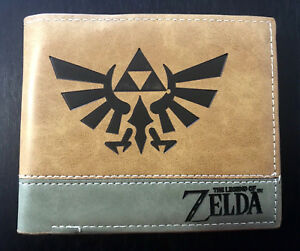 The Legend of Zelda Wallet Purse ID Mens Gaming Faux Leather Triforce Link AUS