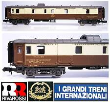 RIVAROSSI 9552 VAGONE CIWL BAGAGE 1263 con DOCCE SNCF ORIENT EXPRESS BOX SCALA-N