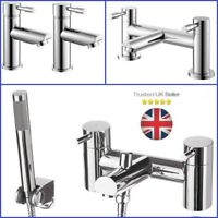 Waterfall Bathroom Basin Bath Mixer Filler and Handheld Shower Tap Set 1/2 Lever