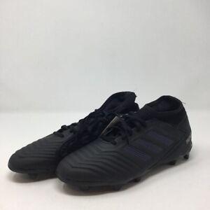 Adidas Boys Predator 19.3 FG Soccer Cleats Black G25794 Lace Up 5 M New