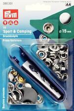 Sport & Camping - Druckknöpfe nähfrei 15 mm silber 10 Stück Prym 390201 Werkzeug