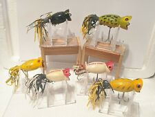 LOT OF 6 FRED ARBOGAST HULA POPPER FISHING LURES
