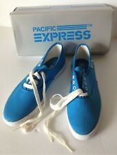 Vintage Pacific Express Womens Tennis Shoes 7 Blue Lace Up New Sneakers Box Nos