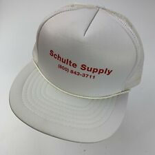 Schulte Supply White Trucker Cap Hat Snapback