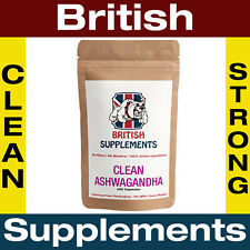 Clean Ashwagandha Capsules 9,020mg (22.54mg of Withandides) 1 Month Supply UK