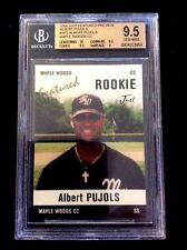 ALBERT PUJOLS RC 2004 JUST FEATURED PREVIEW #AP2 BGS 9.5 GEM MINT-MAPLE WOODS CC