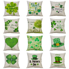 St. Patrick's Day Cotton Linen Cushion Cover Throw Pillow Case Sofa Home Decor
