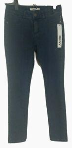 DKNY Girls' Denim Jean Pants Dark Ink Wash Size 10 Style DA71065DG MSRP $32.50
