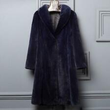Faux Mink Fur Long Ladies Coat Lapel Thick Winter Jacket Warm Chic Parka Plus Sz