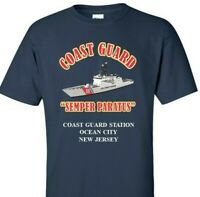 COAST GUARD STATION OCEAN CITY *NEW JERSEY*COAST GUARD VINYL PRINT SHIRT/SWEAT