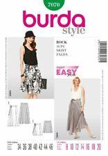 Burda Ladies Sewing Pattern 7070 - Skirt Sizes: 8-20