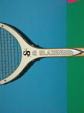 "Vintage Used Slazenger Viking Tennis Racquet 4.5/8"" Bamboo Wood made in Japan"