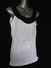 BNWT Womens Sz 14 Bella B Wear Designer Label Black/White Gathered Top RRP $60