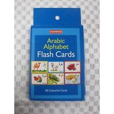Arabo alfabeto Flash cards Bambini Kids vocabolario apprendimento GIOCATTOLO COLORE FOTO