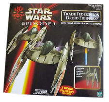 STAR WARS - Episode 1- Trade Federation Droid Fighters - 3 Droid Fighters