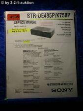 Sony Service Manual STR DE495P /K750P FM/AM Receiver (#4505)
