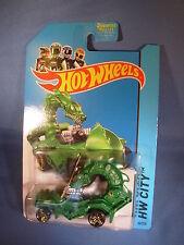 GODZILLA RODZILLA Hot Wheels 2014 HW City Green Medieval Ride USA 2013/ Godzilla