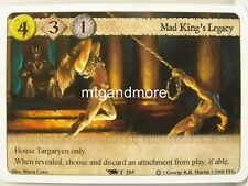 A game of thrones LCG - 1x Mad King 's Legacy #t205 - ice and fire draft Pack