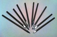 """Lot of 10 Solid Carbide 1/8"""" Engraving Bits Watchmaker Jewelry Lathe Graver CNC"""