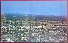 Vintage Santa Barbara Aerial Town View Postcard California CA Card