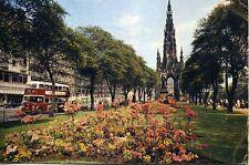 Leyland Titan PD2 Bus Princes Street Gardens Edinburgh Scotland 1963 postcard