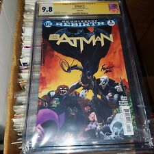 Batman Rebirth #1 (2016), Variant, CGC SS Graded 9.8, Signed by David Finch