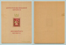 Lithuania 🇱🇹 1947 20 50 mint Lith c 22 imper DP camp Meerbeck s/s dam. f9513
