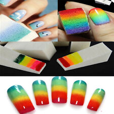 8pcs Nail Art Sponge Stamp Stamping Polish Template Transfer Manicure DIY Tools