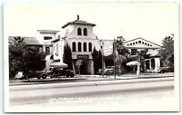 VTG Postcard Real Photo RPPC California CA Carlsbad Hotel 1938 Car Frashers B1
