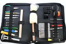 WATCH REPAIR KIT DELUXE 28 PC SET CARRYING CASE WATCHMAKING TOOL
