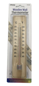 Traditional Wooden Wall Thermometer Garden Patio Shed Greenhouse Home Thermomete